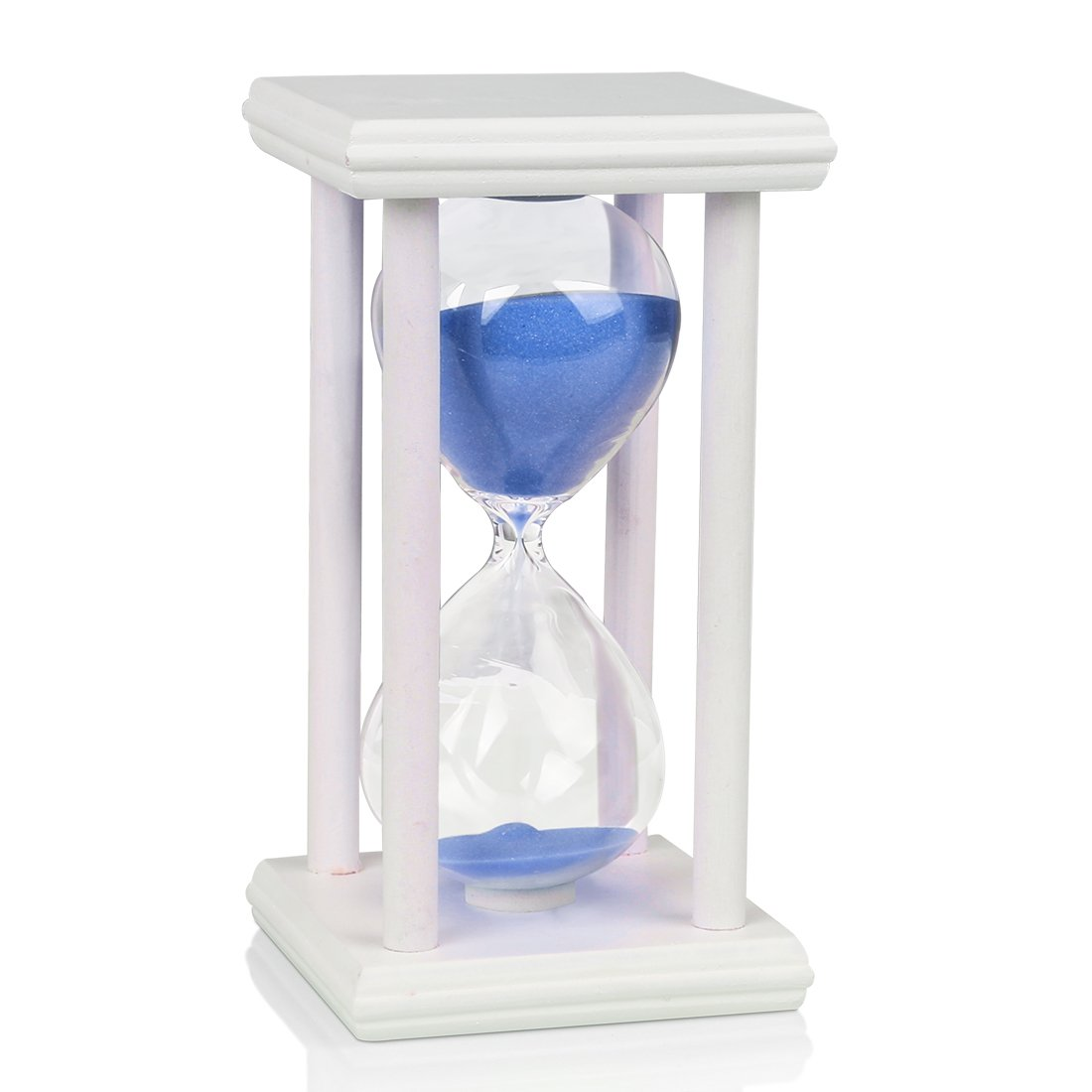 10 Minutes Wooden Frame Sand Timer with Red Sand Hourglass Home Decor