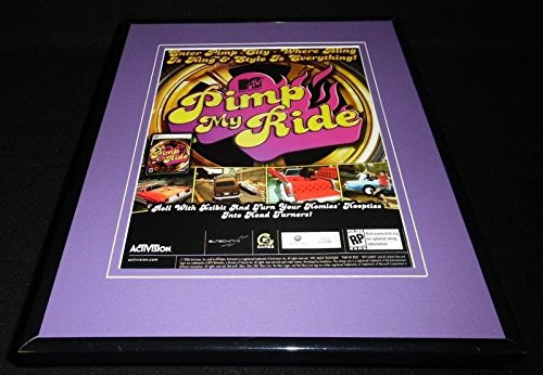 (Pimp My Ride 2006 XBox PS2 Framed 11x14 ORIGINAL Vintage Advertisement)