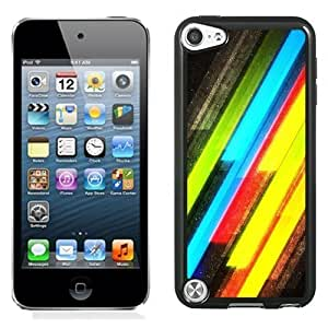 New Personalized Custom Designed For iPod Touch 5th Phone Case For Colored Glitter Stripes Phone Case Cover