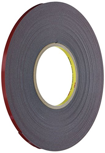 3M 6386 0.25 in. X 20 Yds Black Tape Automotive Acrylic Plus Attachment Tape 06386, 0.25 in. X 20 Yds, 45 Mil