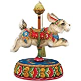 "G. DeBrekht ""Hop, Skip, and a Jump"" Musical Carousel Series Music Box Figurine 58114-1 Plays ""Try To Remember"""