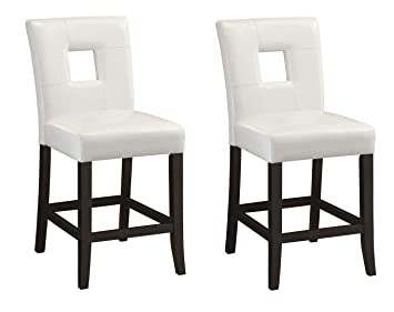 Super Newbridge Upholstered Counter Stools White And Black Set Of 2 Unemploymentrelief Wooden Chair Designs For Living Room Unemploymentrelieforg