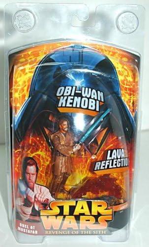 Amazon Com Star Wars Revenge Of The Sith Ob Wan Kenobit Duel At Mustafar Action Figure Toys Games