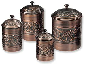 Old dutch antique embossed heritage canister for Kitchen set for 4 year olds