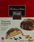 ProtiDiet Chocolate & Caramel Crispy Bites (7 bars of 1.48 oz, net 10.3 oz) - High Protein Chocolate & Caramel Flavored Crispy Bites