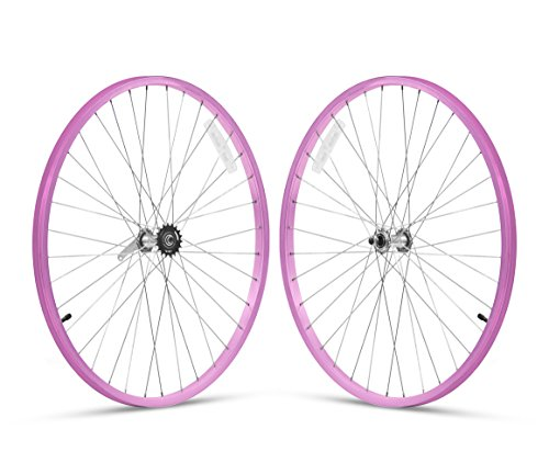 Firmstrong 1-Speed Beach Cruiser Bicycle Wheelset, Front/Rear, Pink, 26