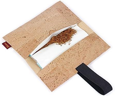 Bolsa para Tabaco Hecha de Corcho/Piel de Corcho Vegana - Funda, Estuche para Tabaco de Liar con Compartimento Adicional para mechero, filtros y Papeles by SIMARU (Beige): Amazon.es: Equipaje