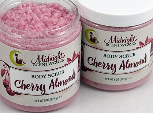Butter Handmade Shea Whipped (Cherry Almond Sugar Scrub with Shea and Cocoa Butter)