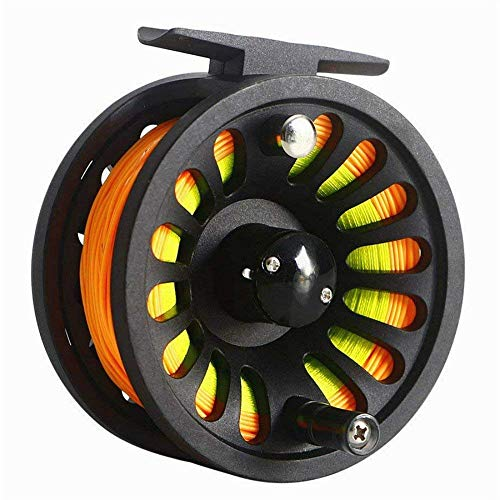 Isafish Fly Reel 5/6 Wt Pre-loaded Weight Forward Fly Line, Backing, Tapered Leader Combo Set
