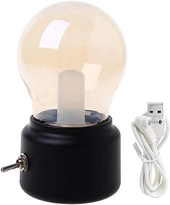 Vintage Ampoule Veilleuse USB Rechargeable LED Lampe de