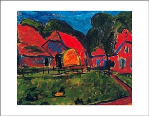 Rote Häuser Bilder erich heckel rote häuser 1908 kunstdruck amazon de küche