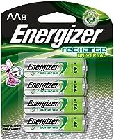 Energizer Recharge Universal, AA, 8 batería recargable - Batería/Pila recargable (AA, 8, AA, Verde, Plata, 8 pieza(s))