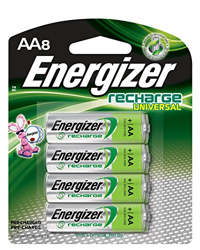 Energizer Rechargeable AA Batteries, NiMH, 2000 mAh, Pre-Charged, 8 count (Recharge ()