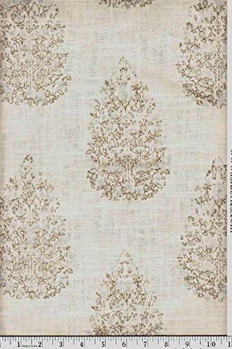 Duralee Fabrics - Kedara 21040 - 680 Aqua/Cocoa - John Robshaw - Naturals - Fabric By The Yard ()