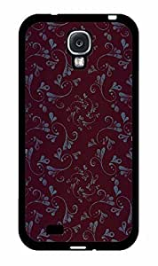 Blue Flourishes Paisley 2-Piece Dual Layer Phone Case Back Cover Samsung Galaxy S4 I9500