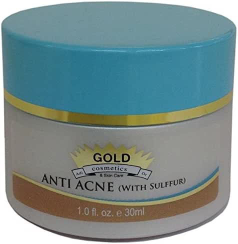 Anti Acne (With Sulfur) ~ Best Anti Acne Cream for Oily Skin ~ By Gold Cosmetics & Skin Care