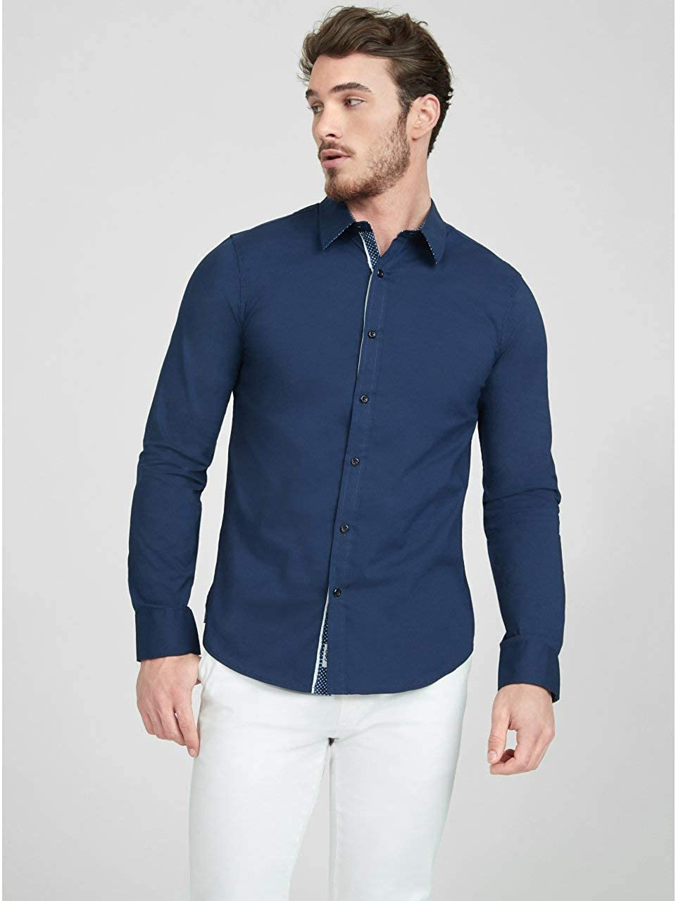 G by GUESS Mens Camano Solid Shirt