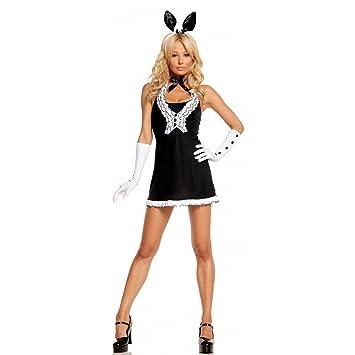 Disfraz de conejita en traje. Negro y blanco, talla L | Fetiche ...