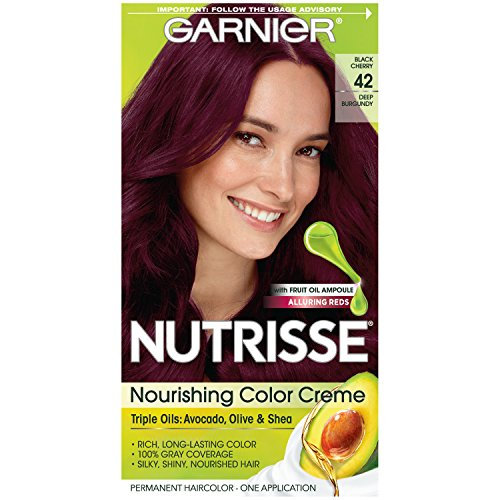 - Garnier Nutrisse Nourishing Hair Color Creme, 42 Deep Burgundy (Black Cherry)  (Packaging May Vary)