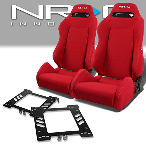 Pair of RSTRLGRD Racing Seats+Mounting Bracket for Volkswagen Golf/Jetta/Beetle Mk4