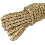 64 piedi 3-ply corda di iuta spessa 4mm naturale corda di canapa forte corda di iuta spago per arti e mestieri decorazione fai da te confezione regalo