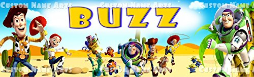 Personalized Toy Story Movie Banner Birthday Poster 8.5x30 Custom Name Art Wall Decor -