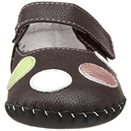 pediped Originals Giselle Mary Jane Crib Shoe (Infant),Chocolate Brown,Small (6-12 Months)