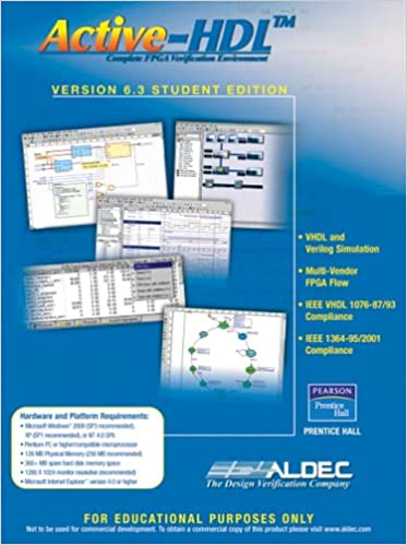 Active-hdl 6. 3 student edition (cd-rom, student ed): aldec inc.