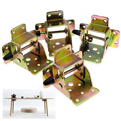 MAREEYA SHOP 4Pcs Iron Locking Foldable Table Chair Leg Brackets Self Lock Hinges Furnitures