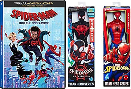 "Spiderman Miles Morales Into the Spiderverse 12/"" Figure Titan Hero Series"