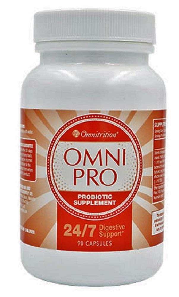 Omnitrition's Omni Pro Probiotic Supplement, 24/7 Digestive Support, 90 Capsules by Generic