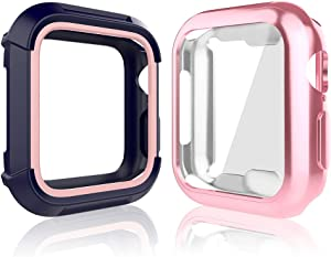 Compatible for iWatch 38mm Series 3 2 1 Case, Toward Rugged Shock Proof Bumper Cover with Soft TPU Screen Protector