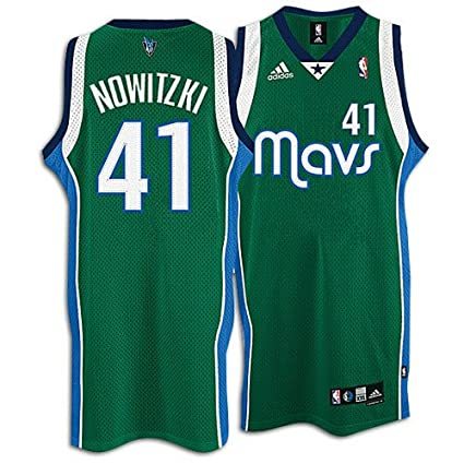 51b68c45e8c Dirk Nowitzki Dallas Mavericks Kelly Green Swingman Adidas NBA Jersey -  Size XXX-Large