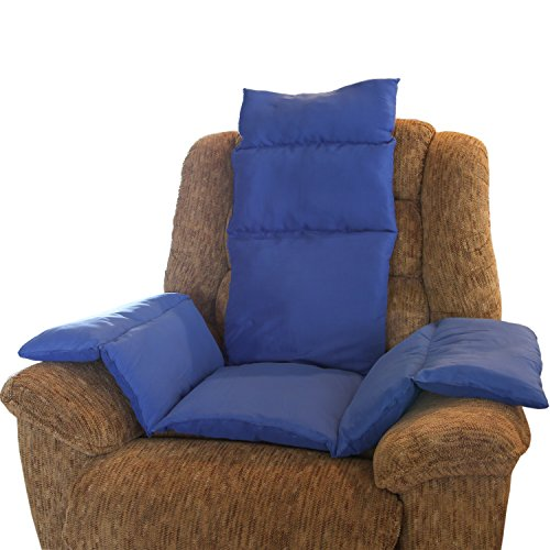 Blue Recliner Cushion - Trenton Gifts Cozy Padded Seat Cushion | Provides Added Layer Of Padding And Support To Any Seat | Blue | By