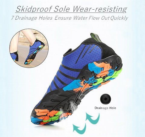 Mens Quick Yoga Womens Shoes Barefoot Dry Socks Voovix Blue Water Aqua Beach Swim Hwq55C