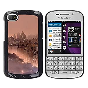 Paccase / SLIM PC / Aliminium Casa Carcasa Funda Case Cover - Park City View Mist Fog - BlackBerry Q10