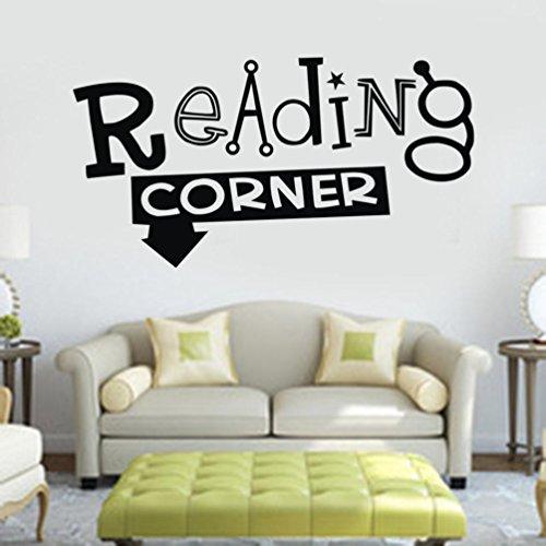 Cheap  YJYDADA Wall Stickers,Reading Corner Removable Art Vinyl Mural Home Room Decor Wall..