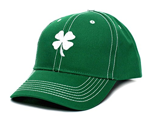Ireland Irish Shamrock Clover Leaf St Patricks Day Embroidered Hat Cap Green