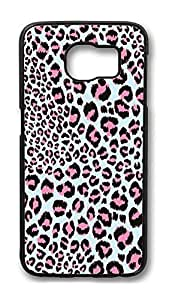 Brian114 Case, S6 Case, Samsung Galaxy S6 Case Cover, Cool Pink Leopard Print Retro Protective Hard PC Back Case for S6 ( Black ) hjbrhga1544