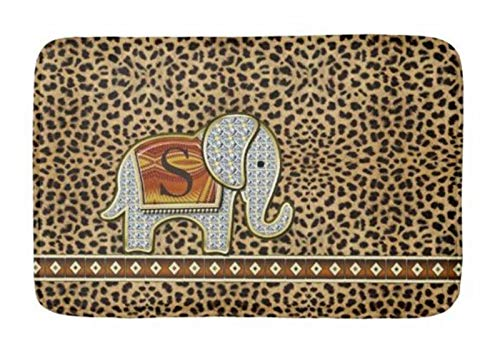 Cheetah Bath - Bathroom Rug Mat (24X16 Inch),Extra Soft and Absorbent Rugs, Machine Wash/Dry,Floor Mats for Tub, Shower and Bath Room Elephant Walk Monogram Cheetah Bath mat