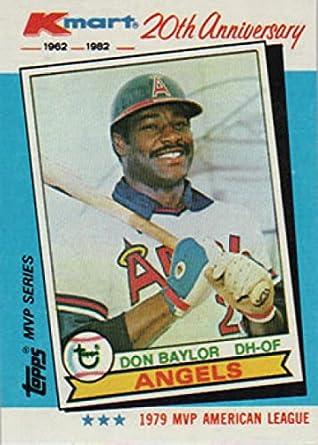 Amazoncom Don Baylor 1982 Topps K Mart Baseball Card 35 1979