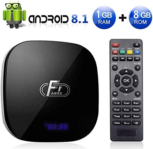 Android 8.1 TV Box, Media Player A95X F1 2GB RAM / 16GB ROM Amlogic S905W Quad Core Admite 2.4Ghz WiFi 4K HDMI DLNA 3D Smart TV Box,2gb+16gb: Amazon.es: Hogar