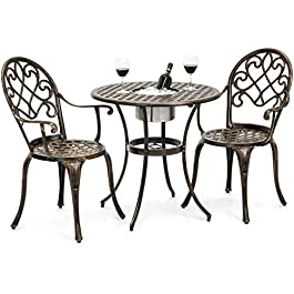 Best Choice Products Cast Aluminum Outdoor Patio B...