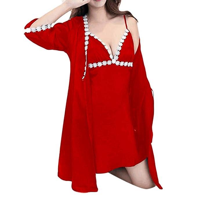 Ropa de Dormir para Mujer en Interiores, ❤ Absolute Moda Sexy Calcomanía de Encaje Ropa de Dormir Ropa Interior Tentación Ropa Interior Abrigo: ...