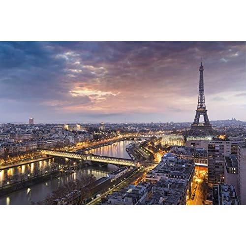 azutura Eiffel Tower Sunset Wall Mural City Skyline Paris Photo Wallpaper France Decor available in 8 Sizes Medium Digital
