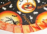 "Tabletop Halloween Tree Skirt, 24"" Full Moons & Jackolanterns"
