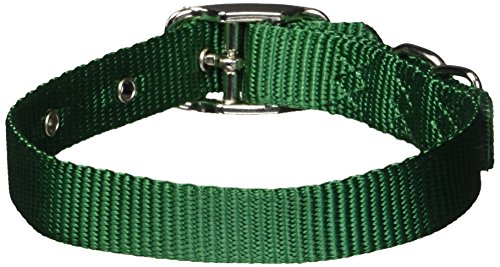 Hamilton 5/8-Inch by 14-Inch Single Thick Nylon Deluxe Dog Collar, Green