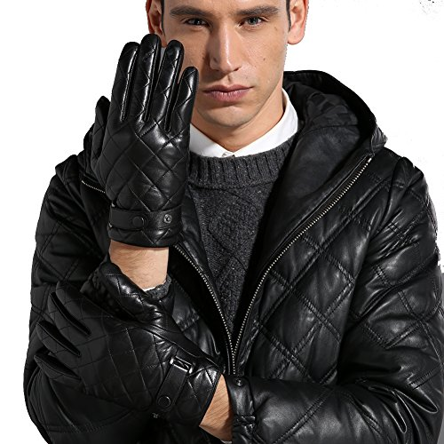 inger Luxury Geniune Leather Cold Weather Gift Gloves, Small, Black ()