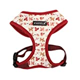 PUPPIA Authentic Dog Story Pet Harness A, Medium, Wine, My Pet Supplies