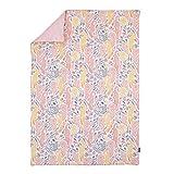 Dwell Studio Boheme Peacock/Floral Print Comforter, Peach/Gold/Gray